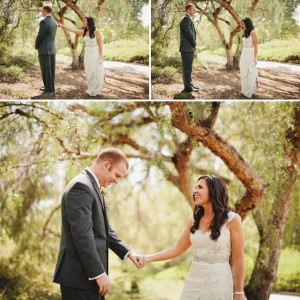 first look okanagan - kelowna wedding ideas - kelowna first look - bride and groom before the wedding