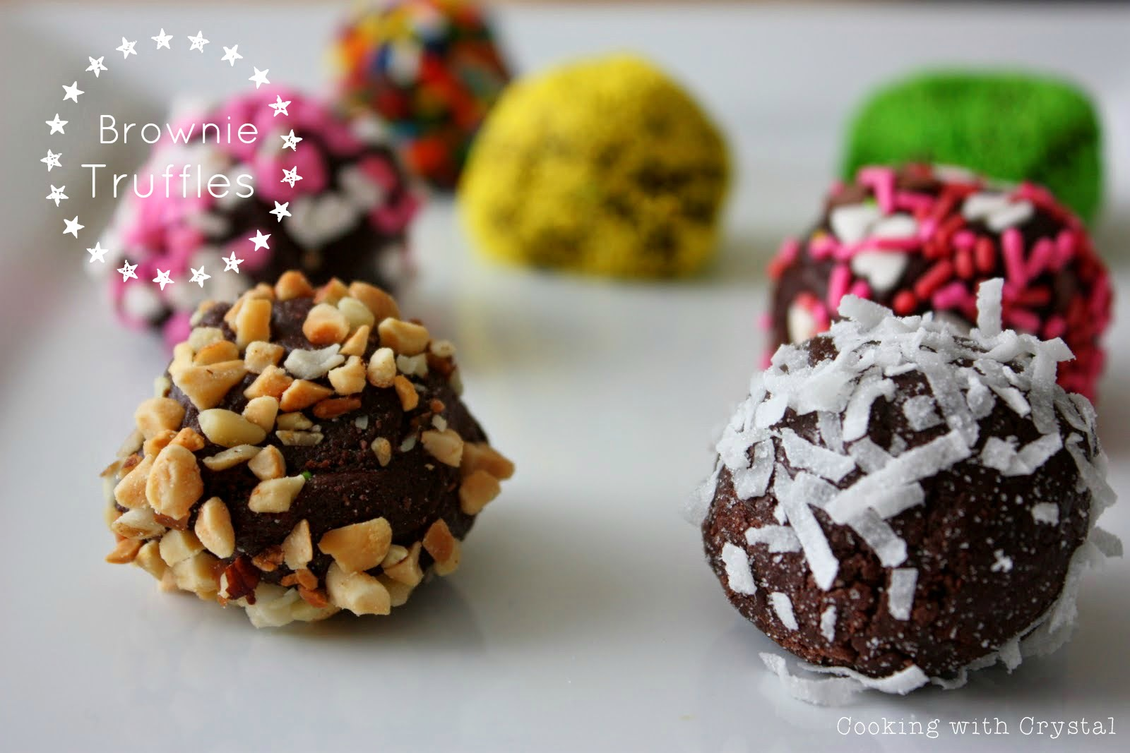 Recipe for homeade brownie truffles