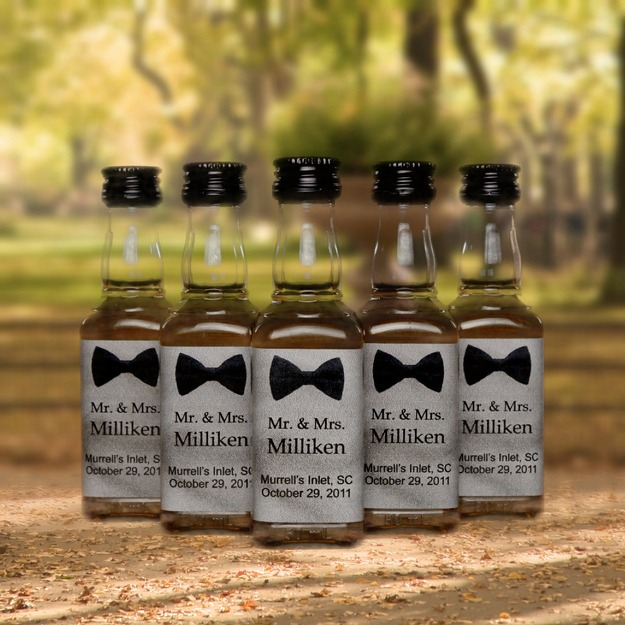 Forget custom drinks - customize any beverage with your own wedding label sticker.