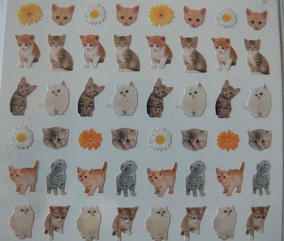 Miniature Cat Stickers - I wonder where these would end up at your wedding?!