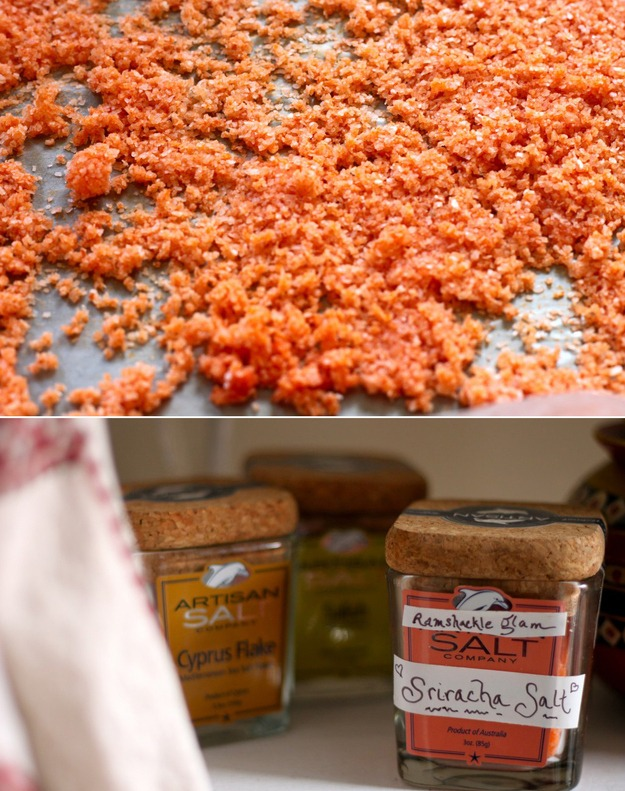 Siracha Salt - simple diy and would make for interesting favors at weddings