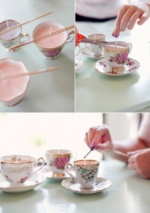 Teacup Candles - UNBELIEVABLY CREATIVE