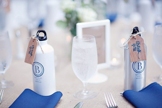 What CANT you customize for your wedding? Like these awesome metal water bottles.