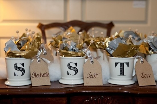 Candy Filled Mugs Wedding Favor Favors