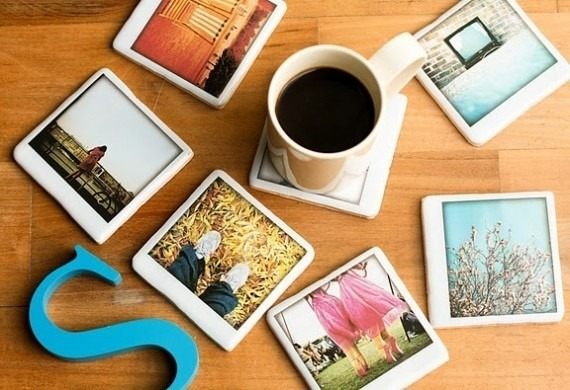 custom instagram coasters! would make for interesting favors at weddings