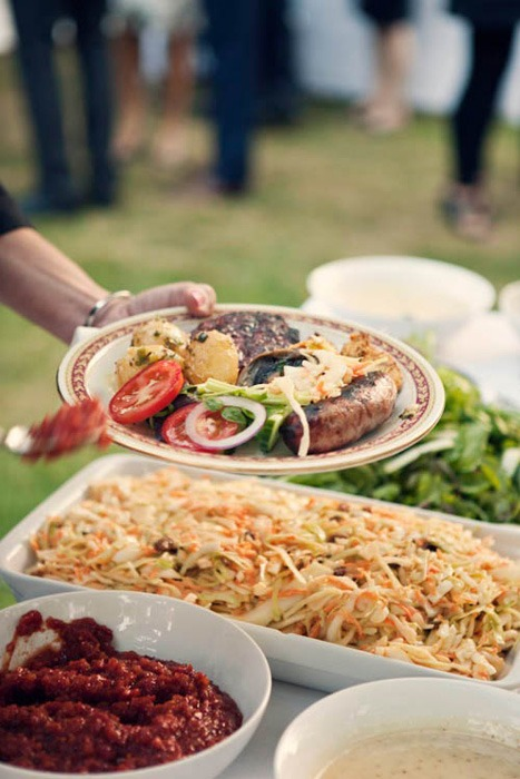 wedding reception bbq potluck wedding dinner another great way to save money on your wedding food and drink 7 Ways to Save Money on Wedding Food and Alcohol at Your Wedding