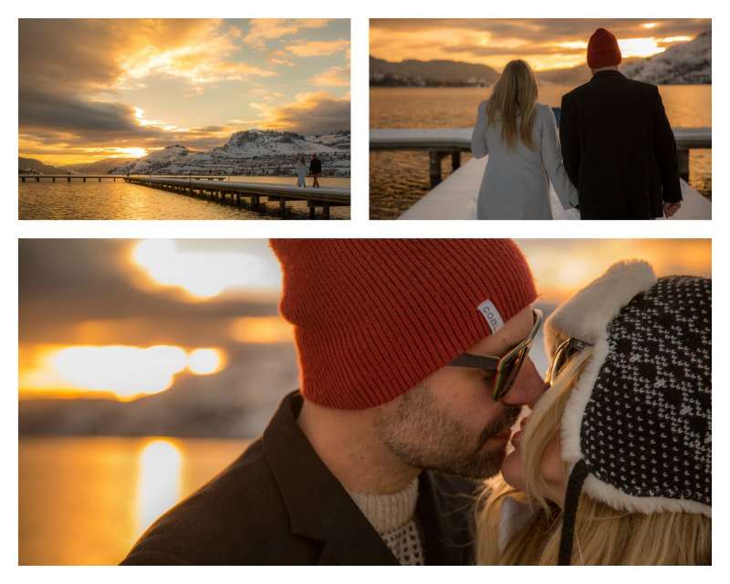 Kelowna Winter Engagement Photography