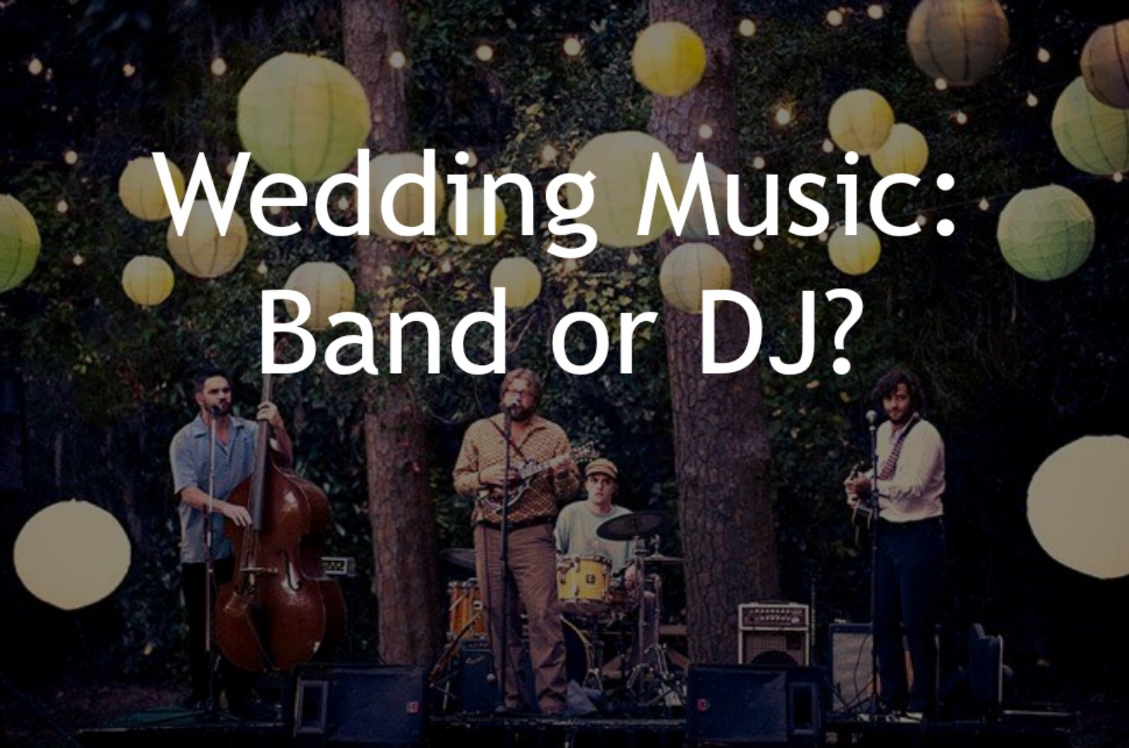 Should you have a DJ or Live Band For Your Wedding?