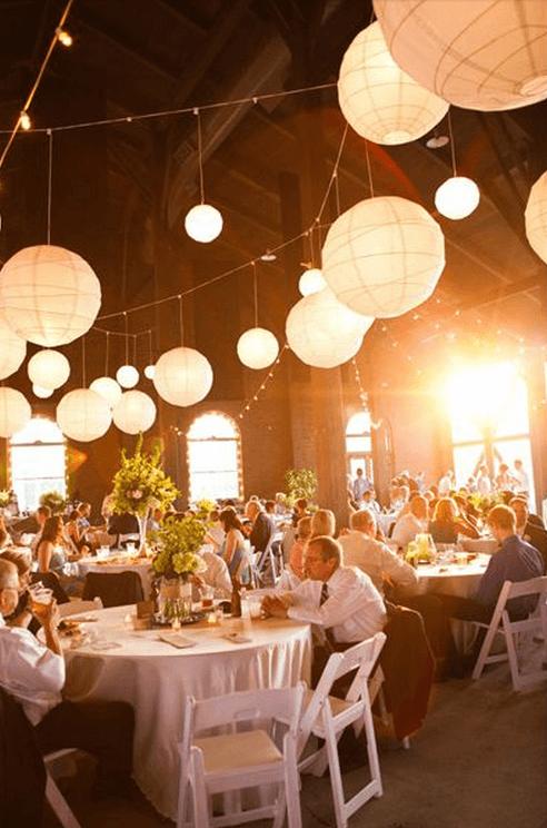 1 Barn wedding - use ikea lanterns to add elegance and ambience!