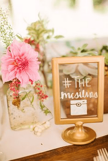 1 spray paint Ikea frames gold and use them as signage