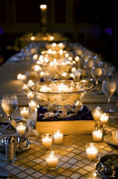 4 Case and point - Ikea candles are enought to decorate a wedding reception all by themselves! You just need... well LOTS