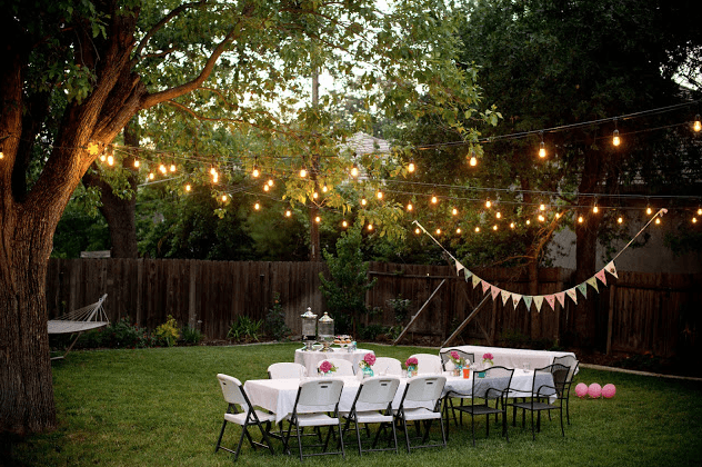 5 Ikea String lights overhead can turn even a simple backyard event into something superbly special