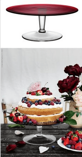 DIY Wedding - A homemade cake layered with cream and berries, set atop a mouth-blown glass AKTAD cake stand and decorated with fresh flowers is simply beautiful.