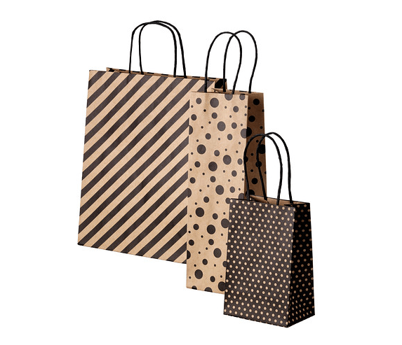 Framstalla Gift Bag, set of 3 assorted patterns black and natural - 2.49 - item number 20248383