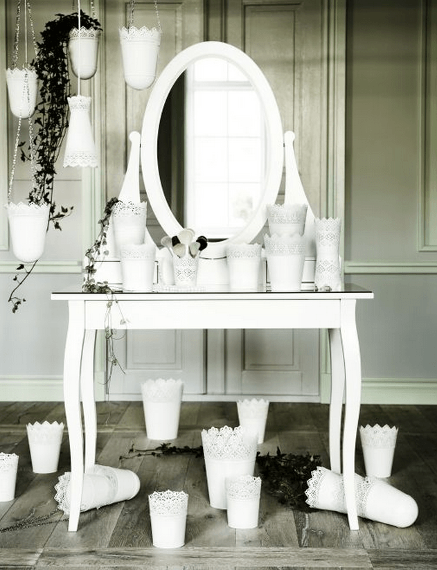 HEMNES dressing table - a beautiful spot to get ready for your wedding day close-ups.