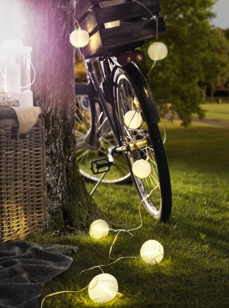 Ikea Solar Powered Lights, Lanterns, Paper Lanterns, Candles and more for your nighttime outdoor wedding reception!