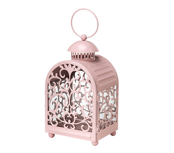 Ikea Table Lantern for outdoor wedding reception - 12.99 - gottgora lantern for candle in metal cup - light pink - item no 60236156