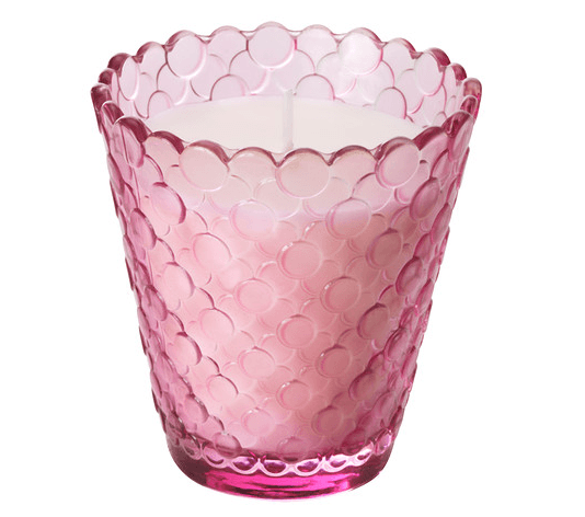 Ikea Wedding Candles - Tidsenlig - Scented Candle in glass, pink - 2.99 - item no 00236282