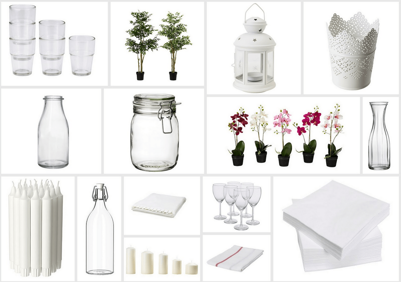 Ikea Wedding Hacks Items