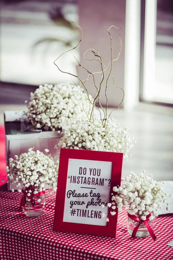 Ikea Wedding Photoframe as table marker