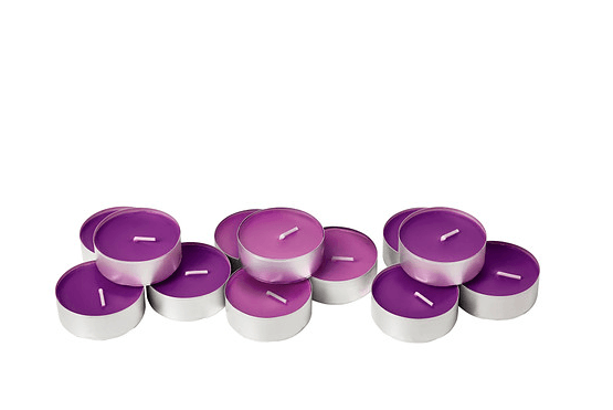 Ikea Wedding Tealights - sinnlig scented candle in metal cup, full blossom, lilac, 4.99 for 2 - item number 50236350