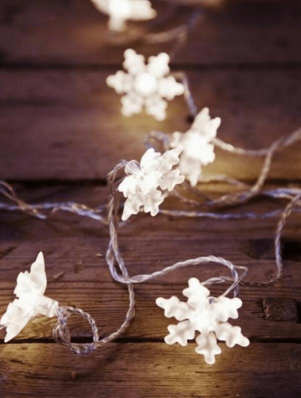 Ikea Winter Wedding Snowflake Lights
