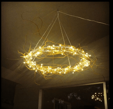 Ikea hack that is brilliant. curly willow added to Glansa pendant lamp. Another idea would be to switch out the decoration between seasons