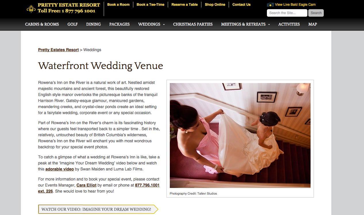 Rowena Wedding Venues Vancouver BC