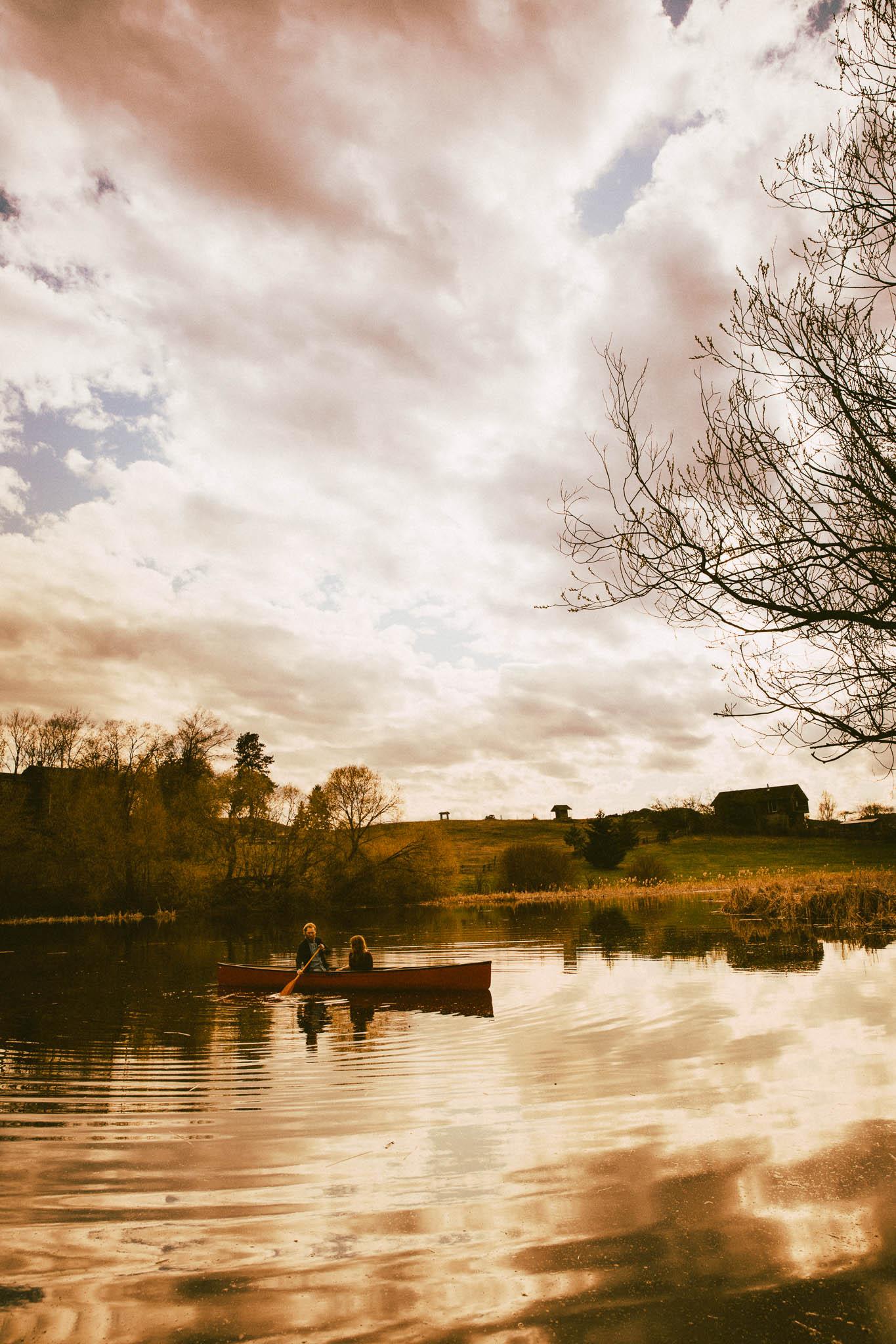 Coles Pond Vernon Engagement Photography