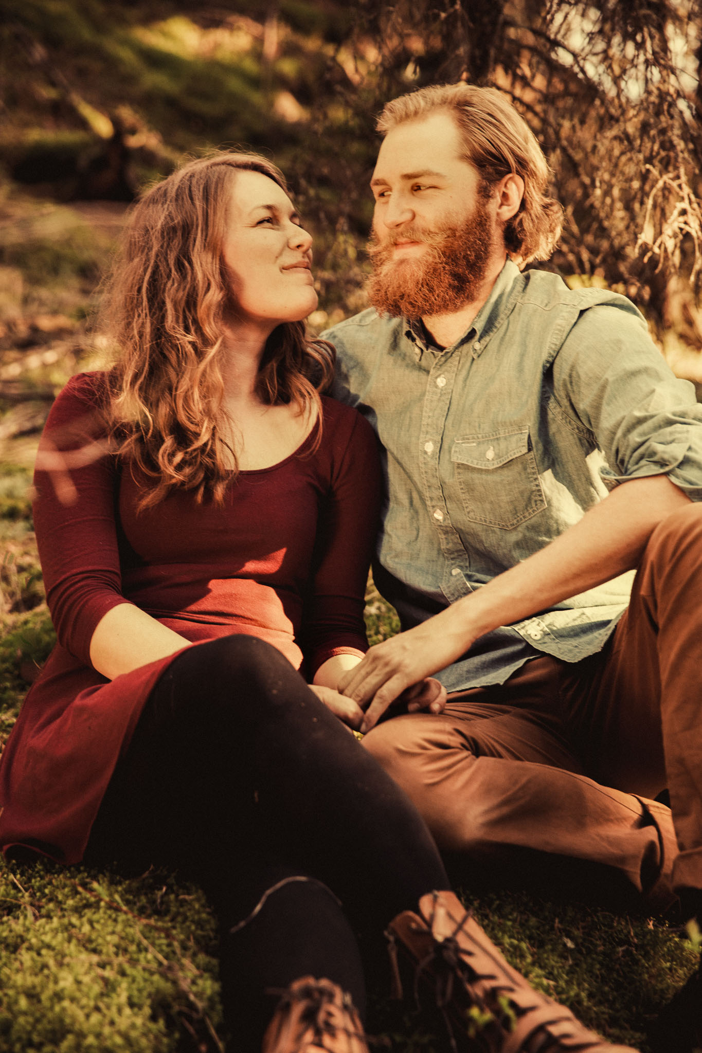 hipster engagement photos