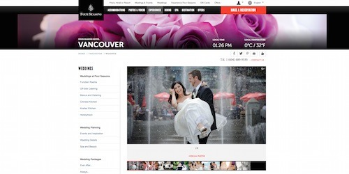 four seasons hotel vancouver wedding venue