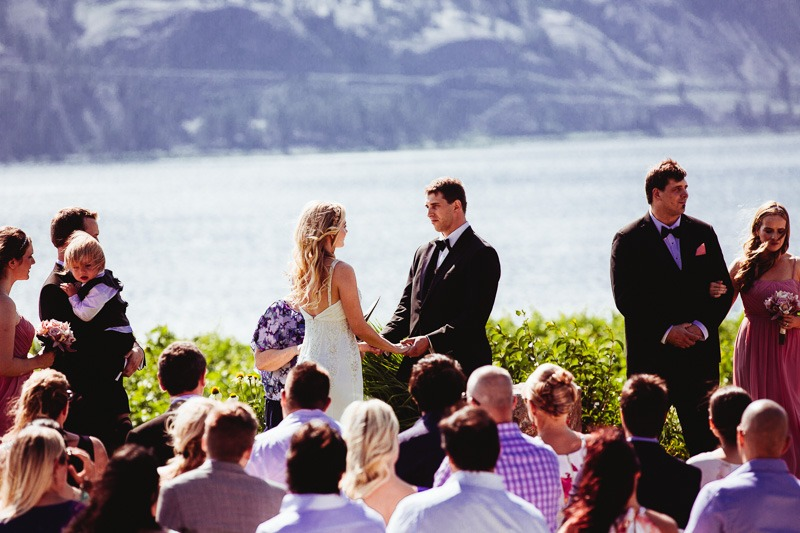 Painted Rock Winery Wedding Ceremony - Photographed by Kelowna Wedding Photographers Tailored Fit Photography