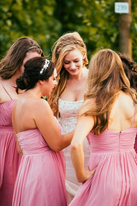 Bridesmaids in Vineyard