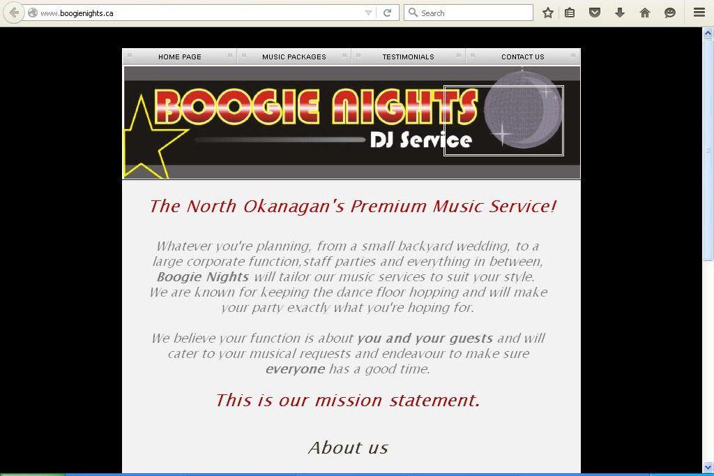 BOOGIE NIGHTS DJ SERVICE
