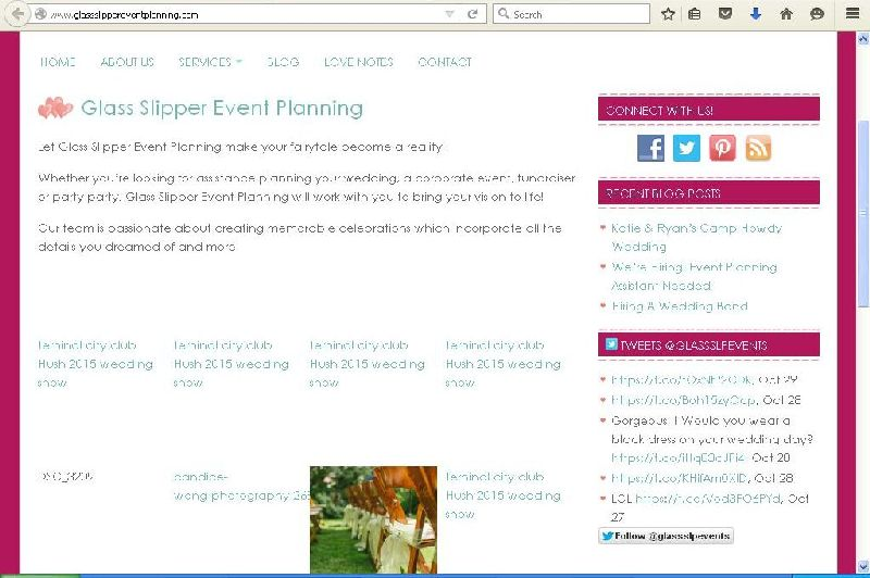 Glass Slipper Event Planning