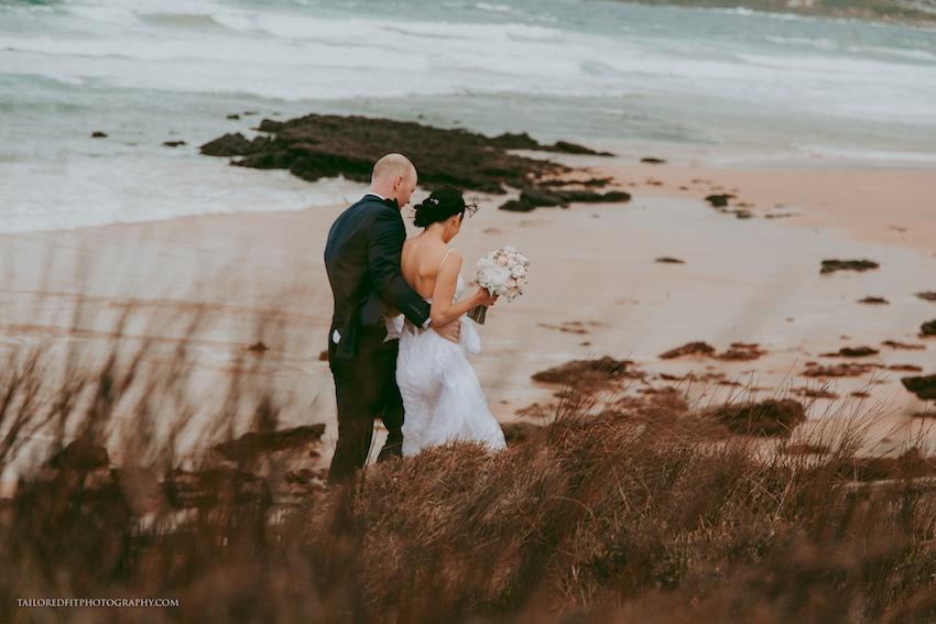 Beach Wedding Photos Long Reef Golf Club Wedding Tailored Fit