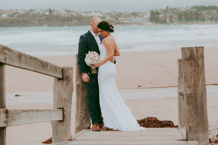 cutest first look photos on the beach - long reef golf club wedding photos by australia wedding photographers tailored fit photography, hillsong wedding
