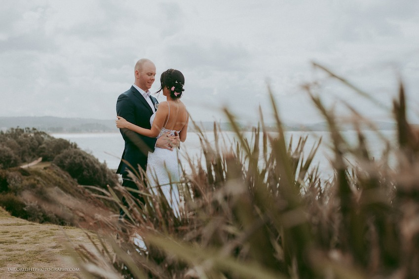 first look on the ocean - first look between bride and groom -