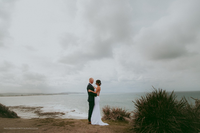 rainy day beach wedding photography ideas - walking on the reef