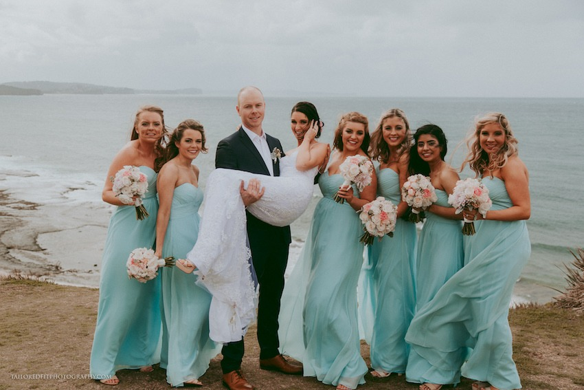 beach wedding photography ideas - walking on the reef