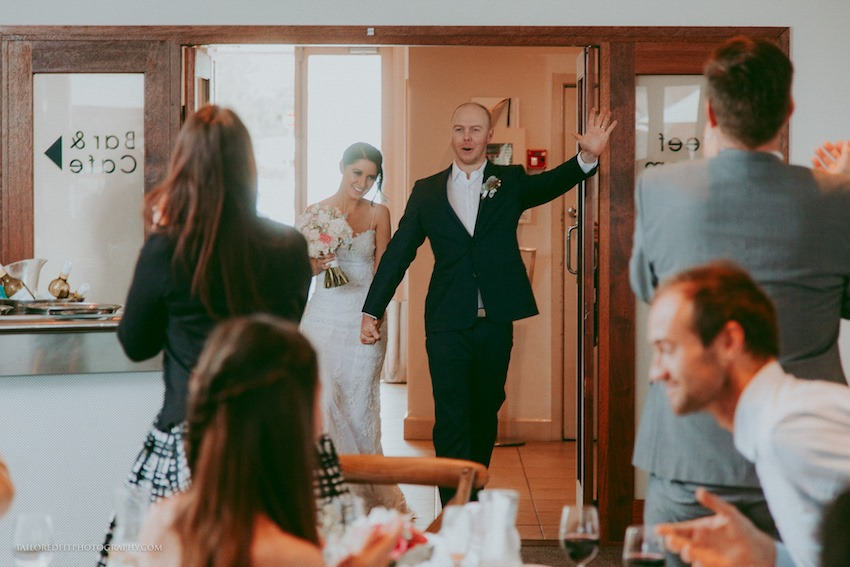 bride and groom enter reception photos reception entry