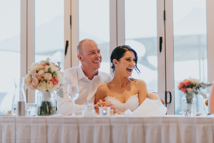 beach wedding reception at long reef golf club collaroy
