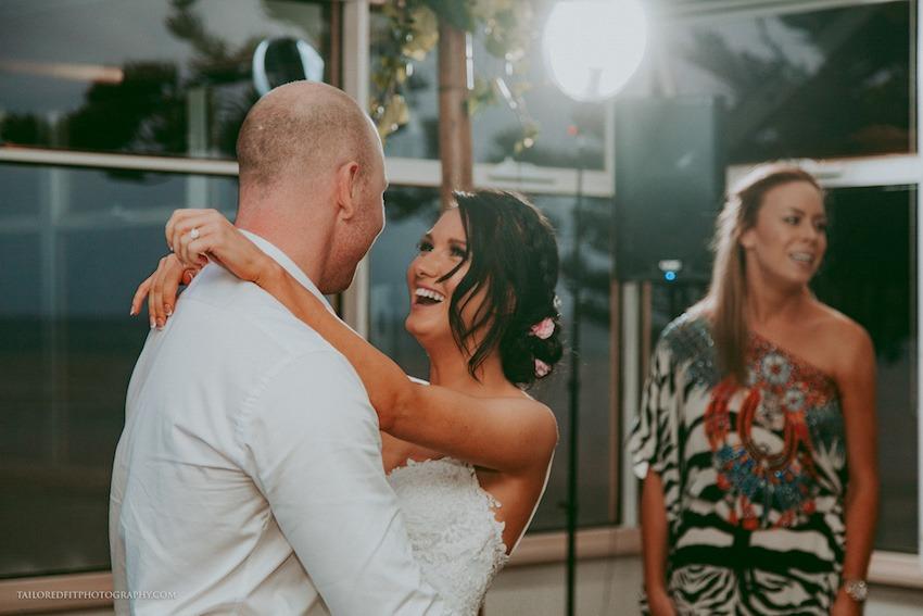 first dance photos at beach wedding reception at long reef golf club collaroy