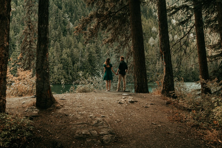 Forest engagement photos - Rocky Mountain Wedding Proposal Engagement Session