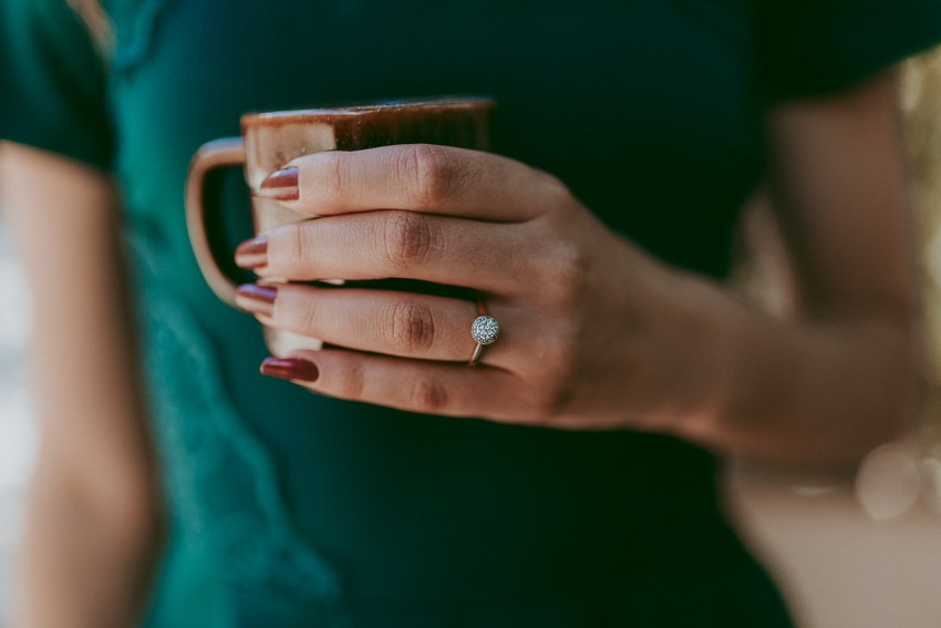Wedding Ring Engagement Ring Photo Ideas - Forest engagement photos - Rocky Mountain Wedding Proposal Engagement Session