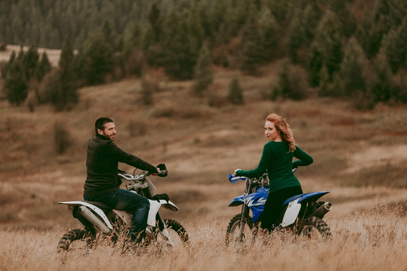 adventure engagement shoot - adventurous as they come, Kylee & Dustin planned a whole Dirtbike engagement photo session in Canada!