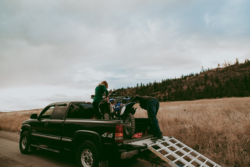 dirtbike engagement photos and pictures by Tailored Fit Photography