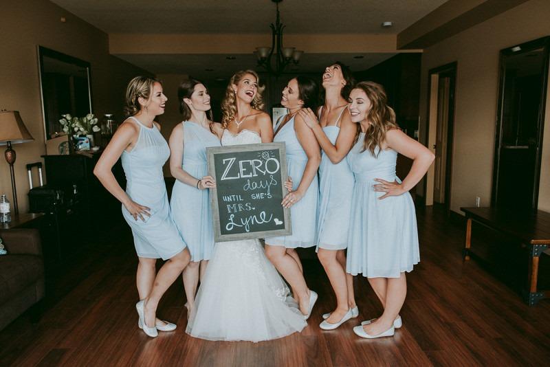 cute bride countdown sign for your wedding day - wedding reception indoors in Kelowna at Okanagan resort