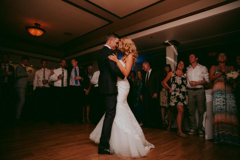 wedding reception indoors in kelowna at okanagan resort