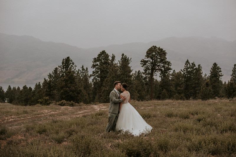 wedding ceremony near the cove lakeside resort